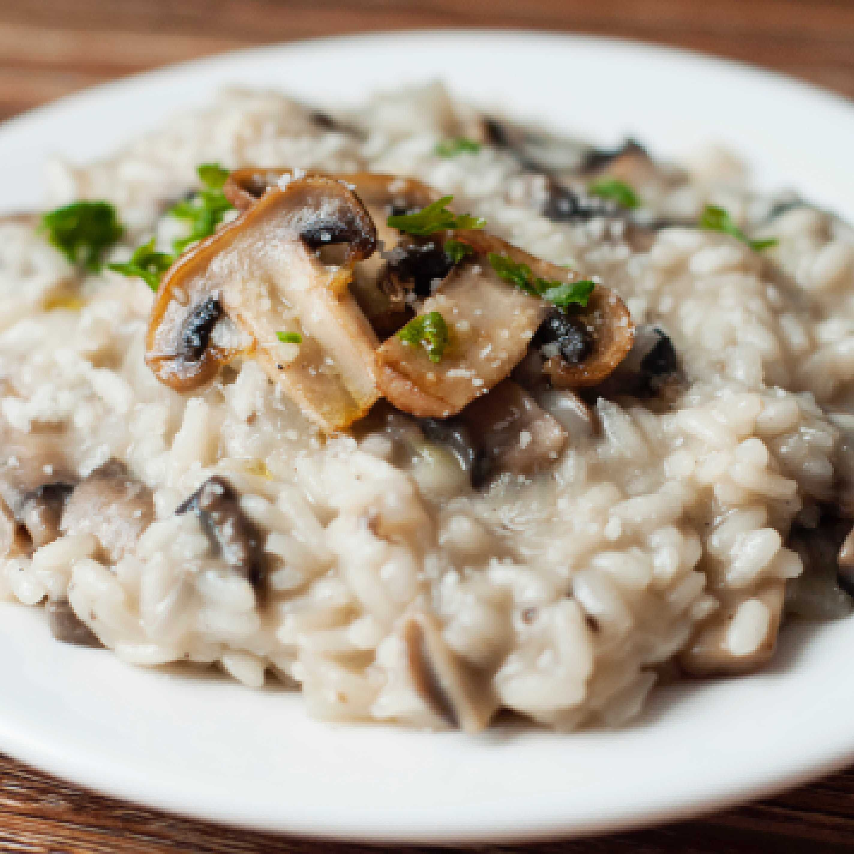 Slow Cooked Mushroom Risotto – Baby Led Weaning